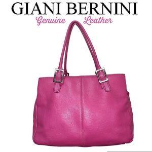 Giani Bernini Leather handbag raspberry pink NWOT